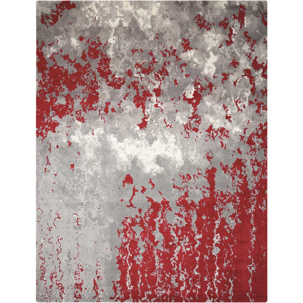 Twilight Area Rug, Grey/Red, 12' x 15'. Picture 1