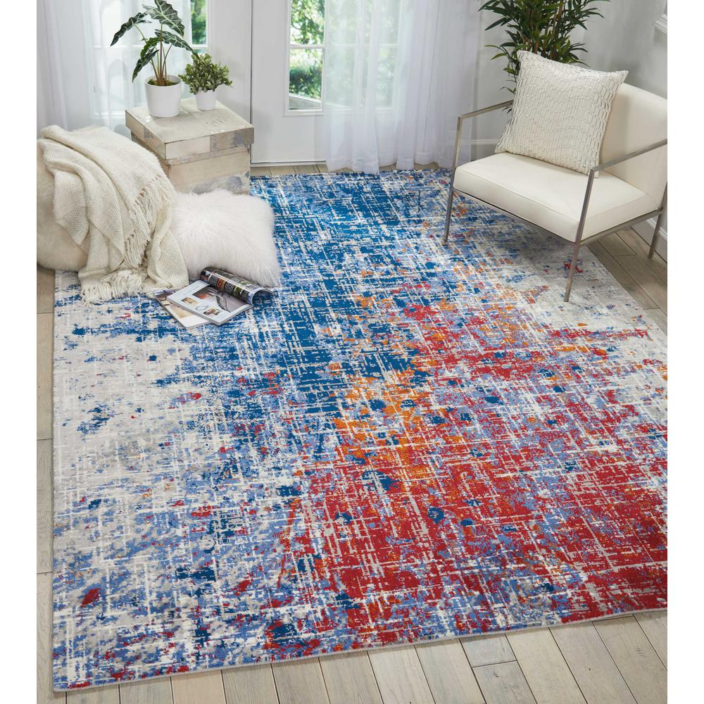 Twilight Area Rug, Red/Blue, 12' x 15'. Picture 2