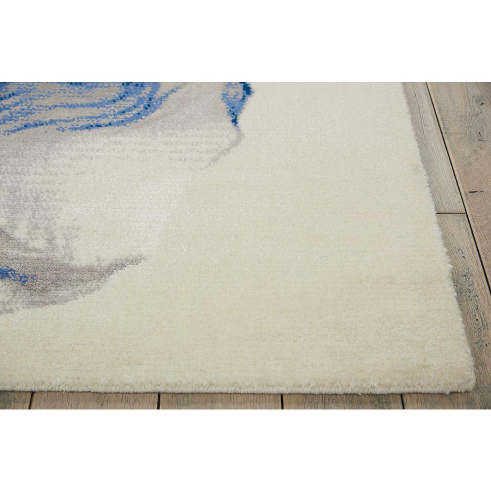 """Twilight Area Rug, Ivory/Blue, 5'6"""" x 8'. Picture 3"""