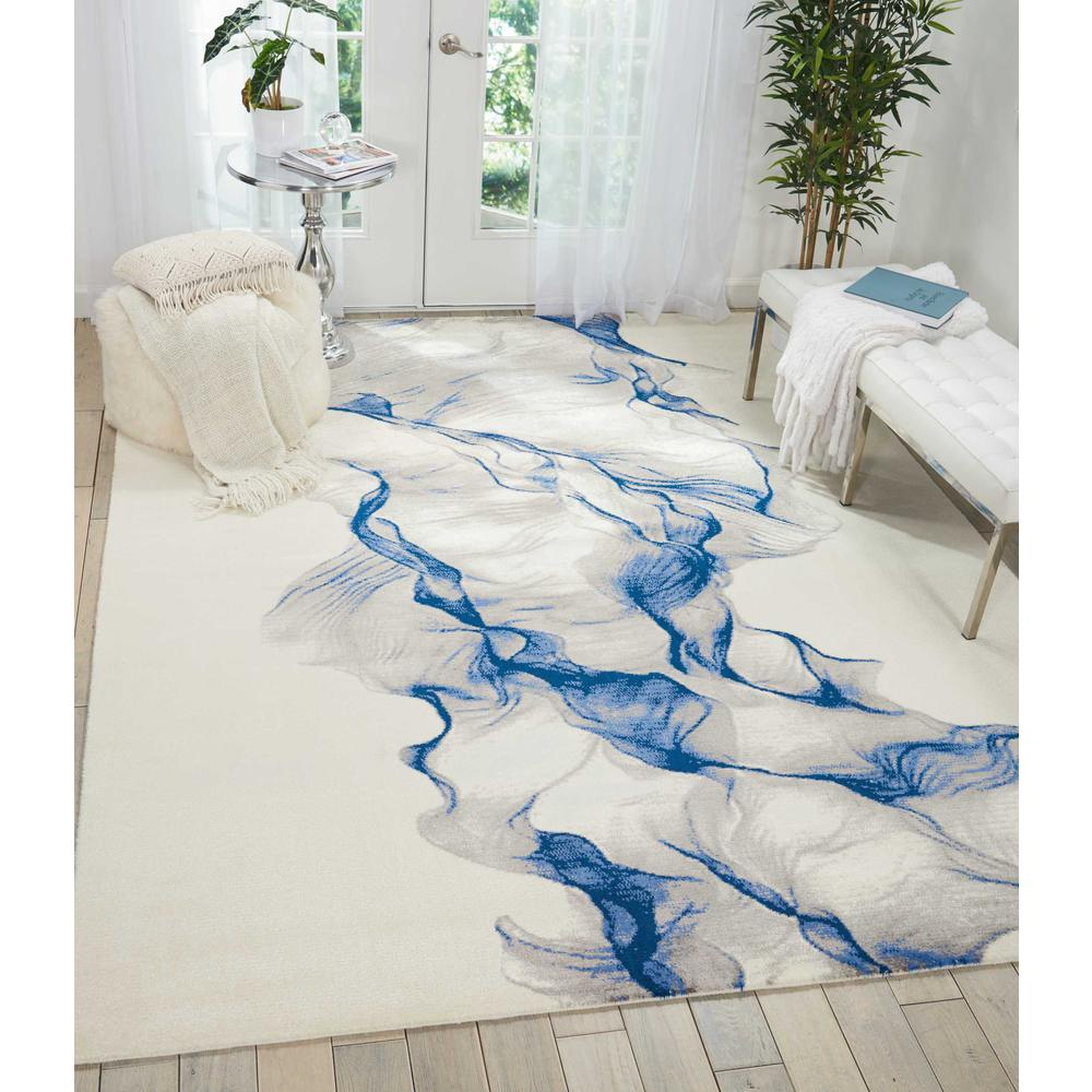 """Twilight Area Rug, Ivory/Blue, 5'6"""" x 8'. Picture 2"""