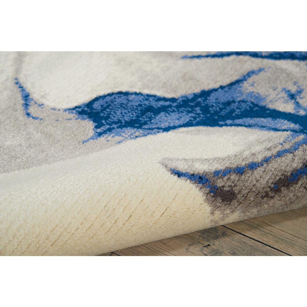 """Twilight Area Rug, Ivory/Blue, 5'6"""" x 8'. Picture 5"""