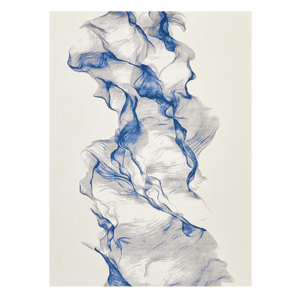 """Twilight Area Rug, Ivory/Blue, 8'6"""" x 11'6"""". Picture 1"""