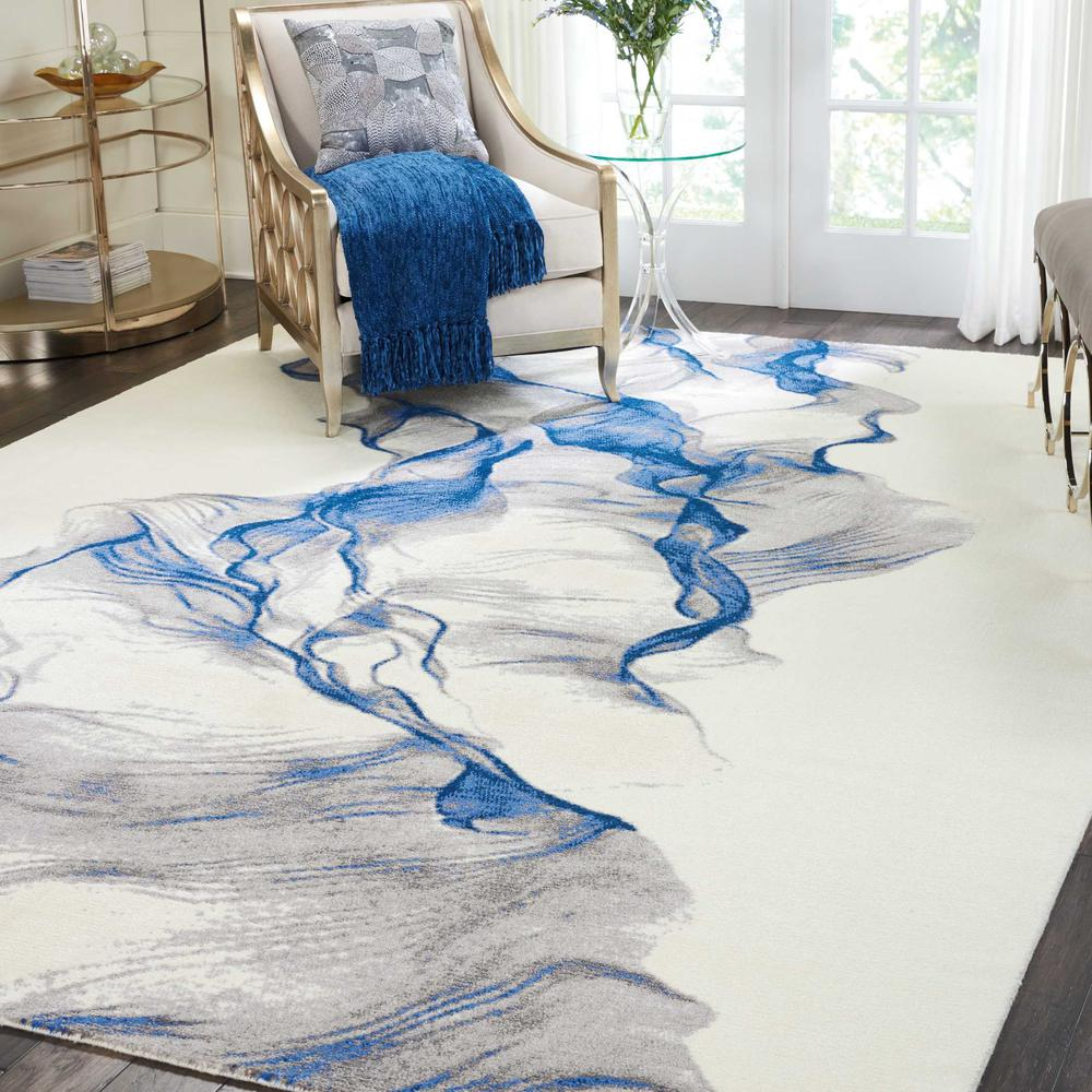 """Twilight Area Rug, Ivory/Blue, 8'6"""" x 11'6"""". Picture 2"""