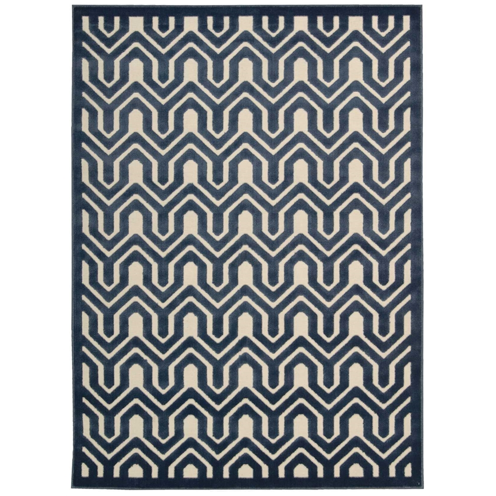 Nourison Ultima Ivory Blue Area Rug. Picture 2