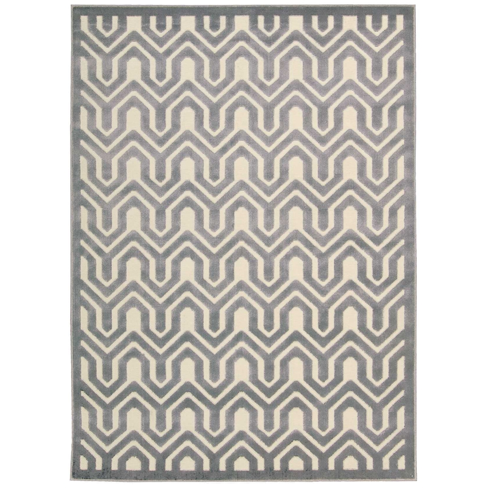 Nourison Ultima Ivory Blue Area Rug. Picture 3