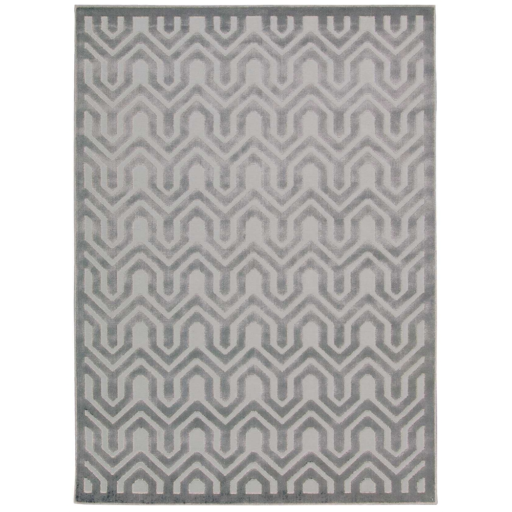 Nourison Ultima Ivory Blue Area Rug. Picture 4