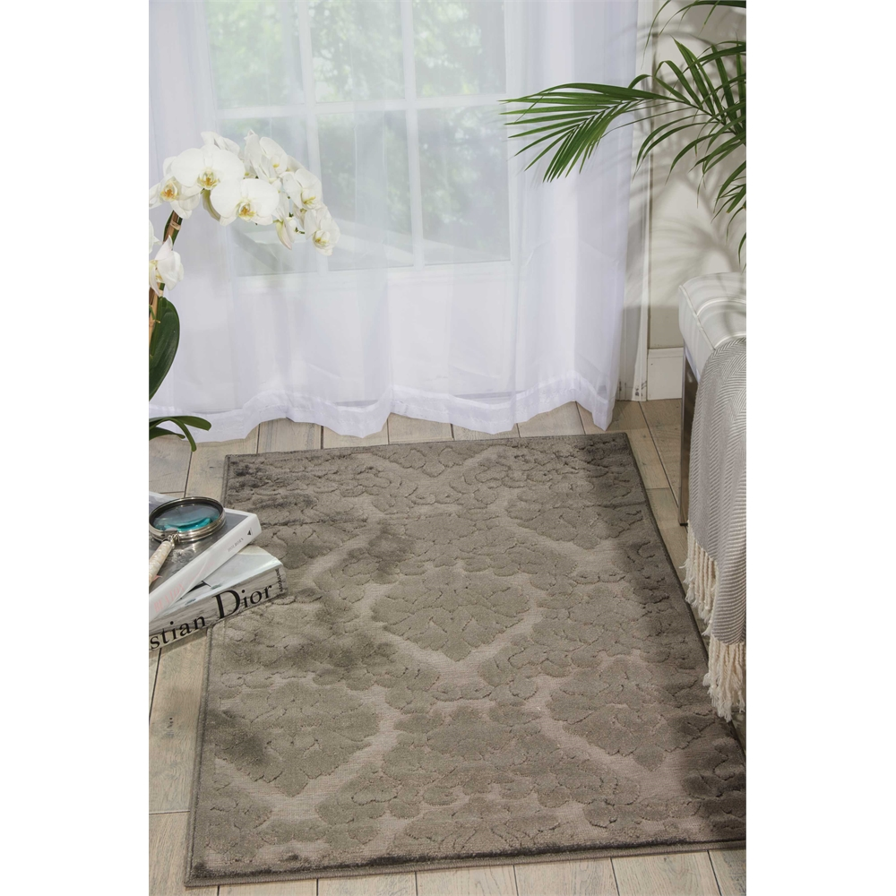 Ultima Silver Grey Area Rug. Picture 6