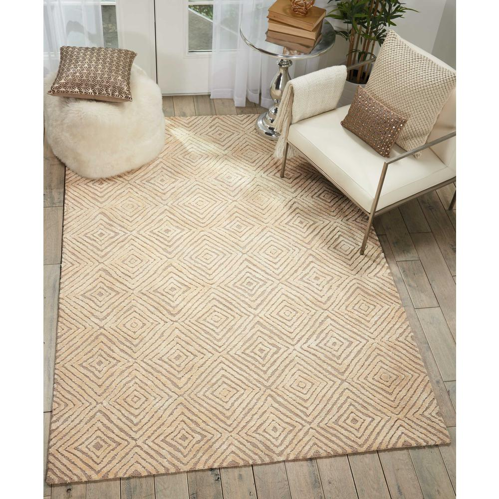 "Modern Deco Area Rug, Taupe/Ivory, 8' x 10'6"". Picture 4"