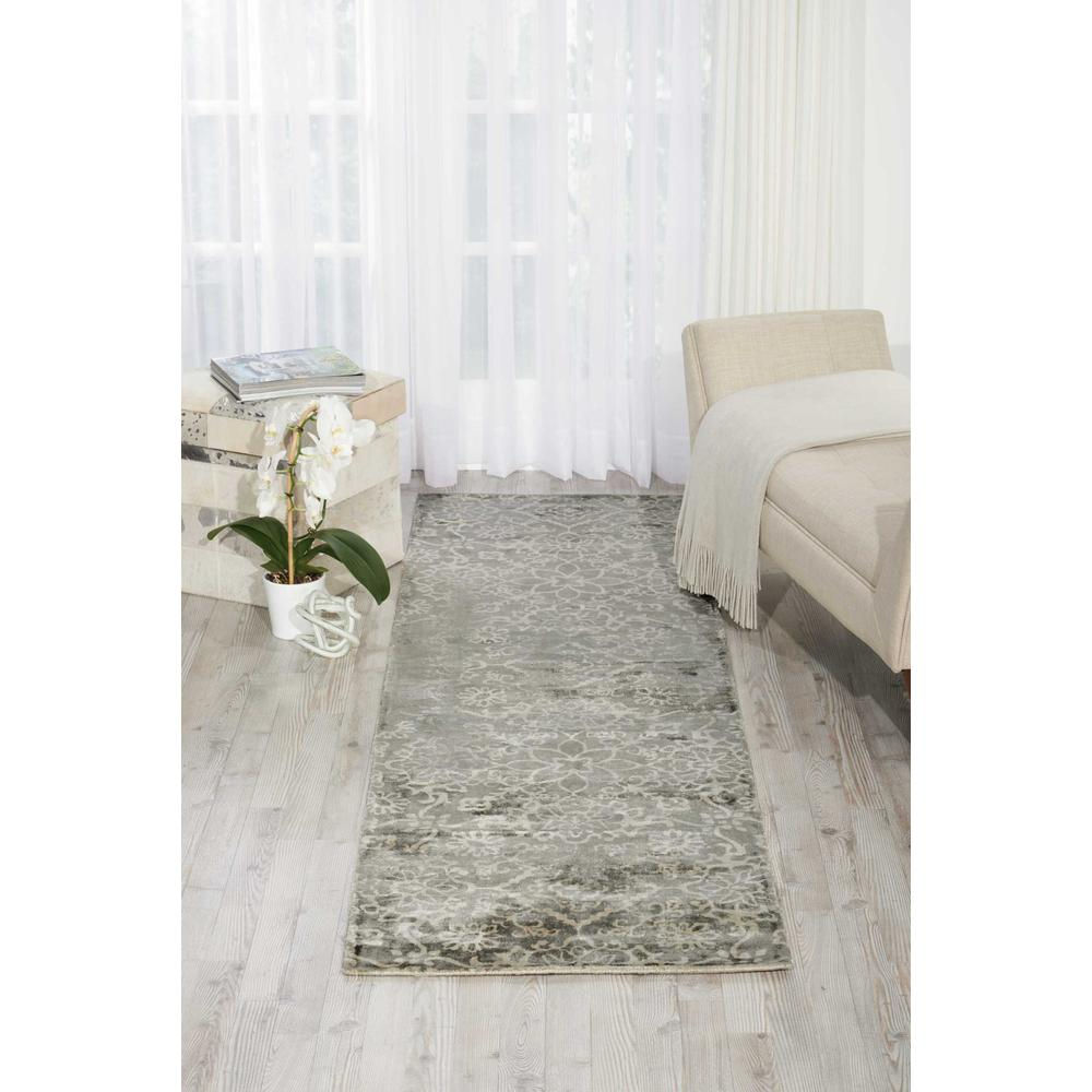 "Desert Skies Area Rug, Grey, 2'3"" x 8'. Picture 4"