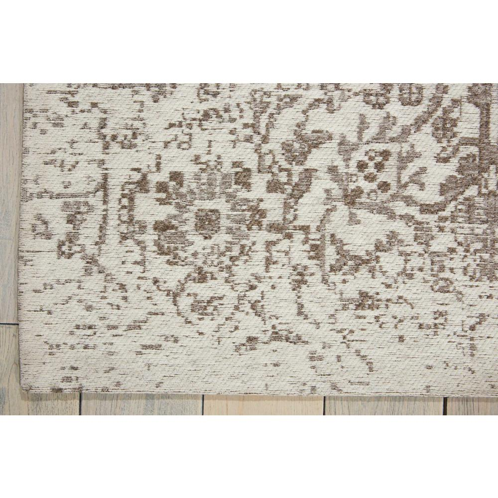 Damask Area Rug, Ivory, 8' x 10'. Picture 2