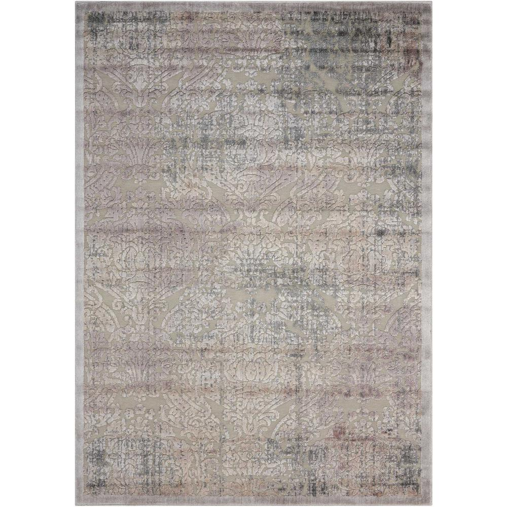 "Graphic Illusions Area Rug, Grey, 6'7"" x 9'6"". Picture 1"