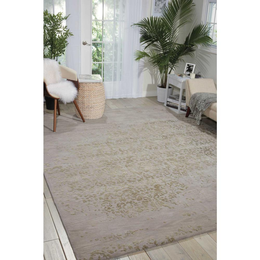 "Opaline Area Rug, Silver, 3'9"" x 5'9"". Picture 4"
