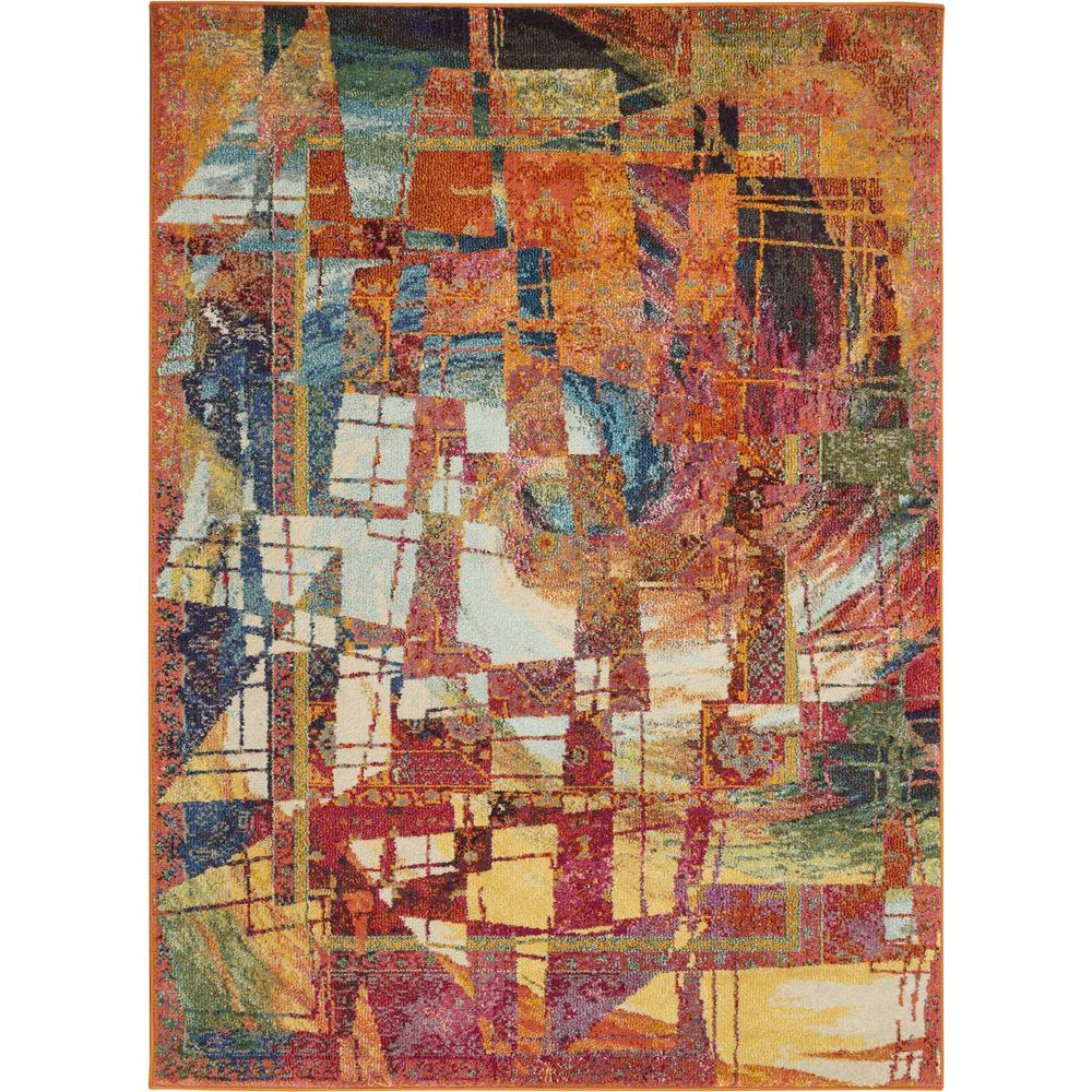 """Celestial Area Rug, Stained Glass, 5'3"""" x 7'3"""". Picture 1"""