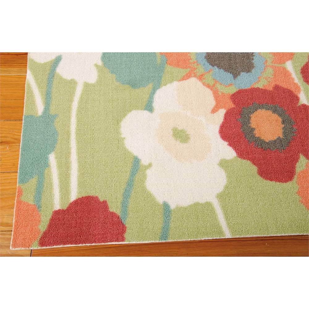 """Waverly Sun & Shade """"Pic-A-Poppy"""" Seaglass Indoor/Outdoor Area Rug by Nourison. Picture 2"""