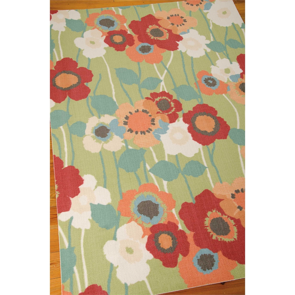 """Waverly Sun & Shade """"Pic-A-Poppy"""" Seaglass Indoor/Outdoor Area Rug by Nourison. Picture 4"""