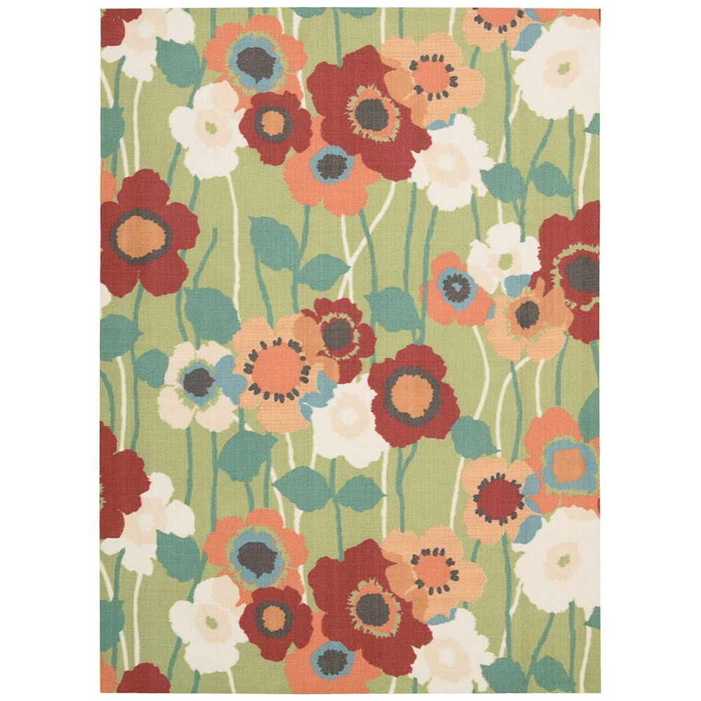 """Waverly Sun & Shade """"Pic-A-Poppy"""" Seaglass Indoor/Outdoor Area Rug by Nourison. Picture 1"""