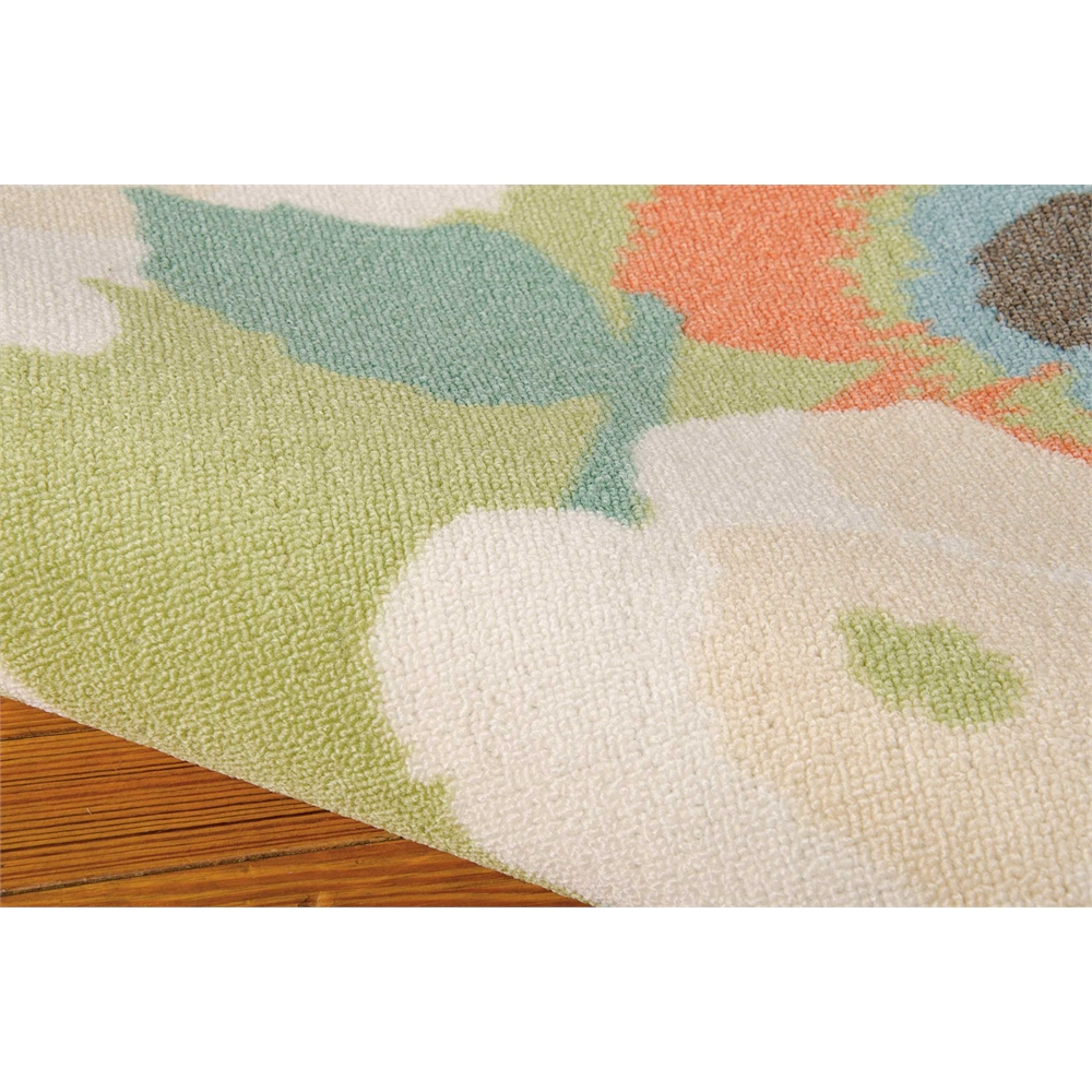 """Waverly Sun & Shade """"Pic-A-Poppy"""" Seaglass Indoor/Outdoor Area Rug by Nourison. Picture 5"""