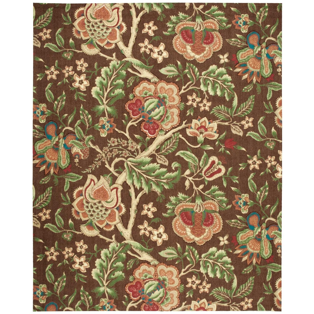 """Global Awakening """"Imperial Dress"""" Chocolate Area Rug. Picture 1"""