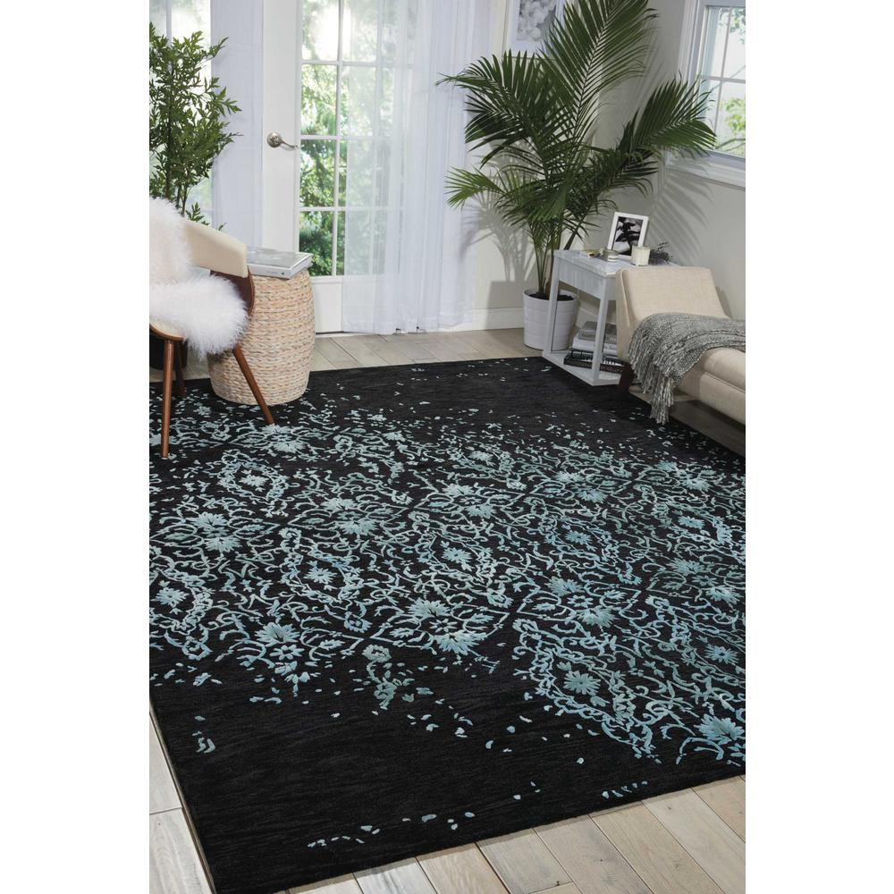 """Opaline Area Rug, Mmidnight Blue, 3'9"""" x 5'9"""". Picture 4"""