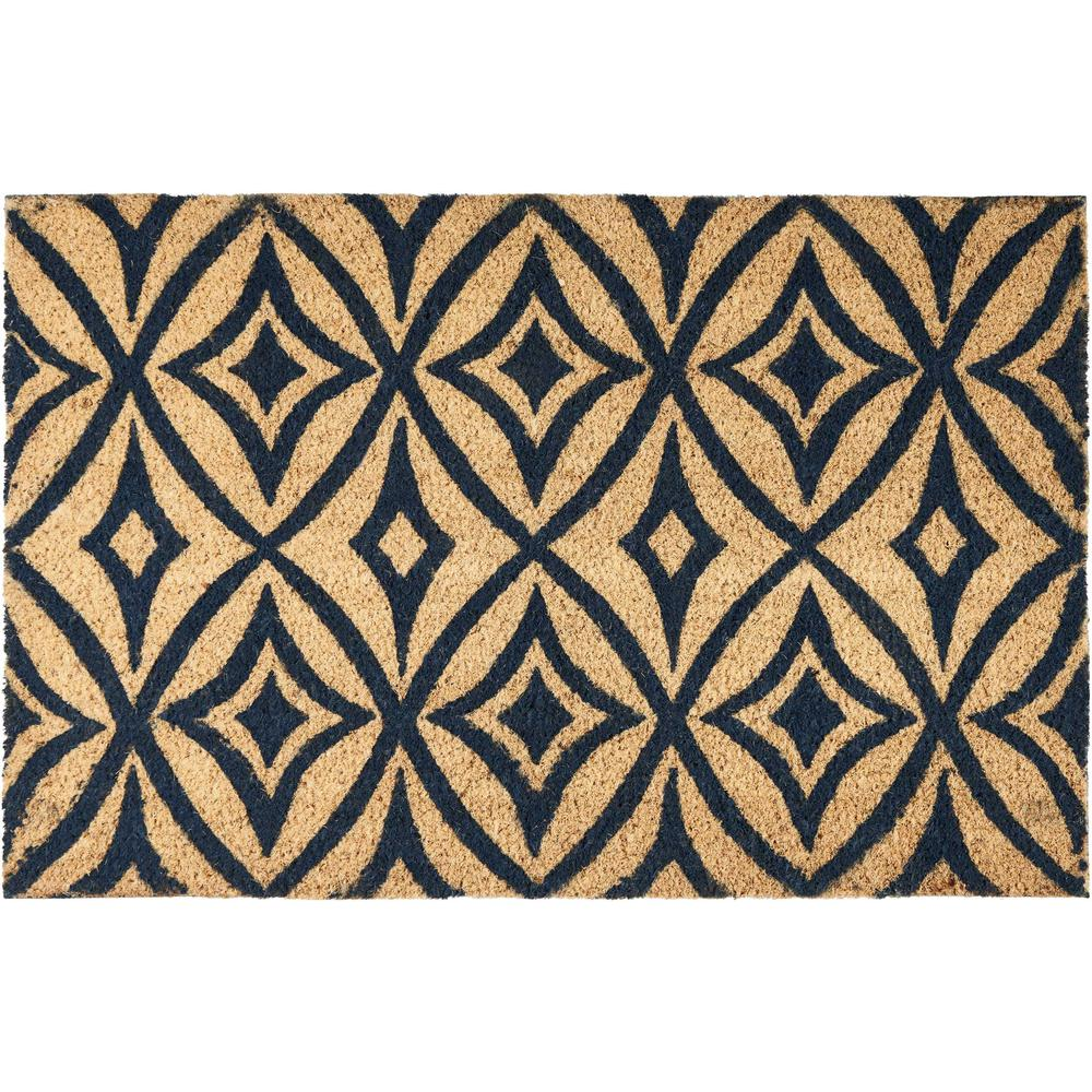 """Waverly Greetings """"Centro"""" Navy Doormat. Picture 1"""