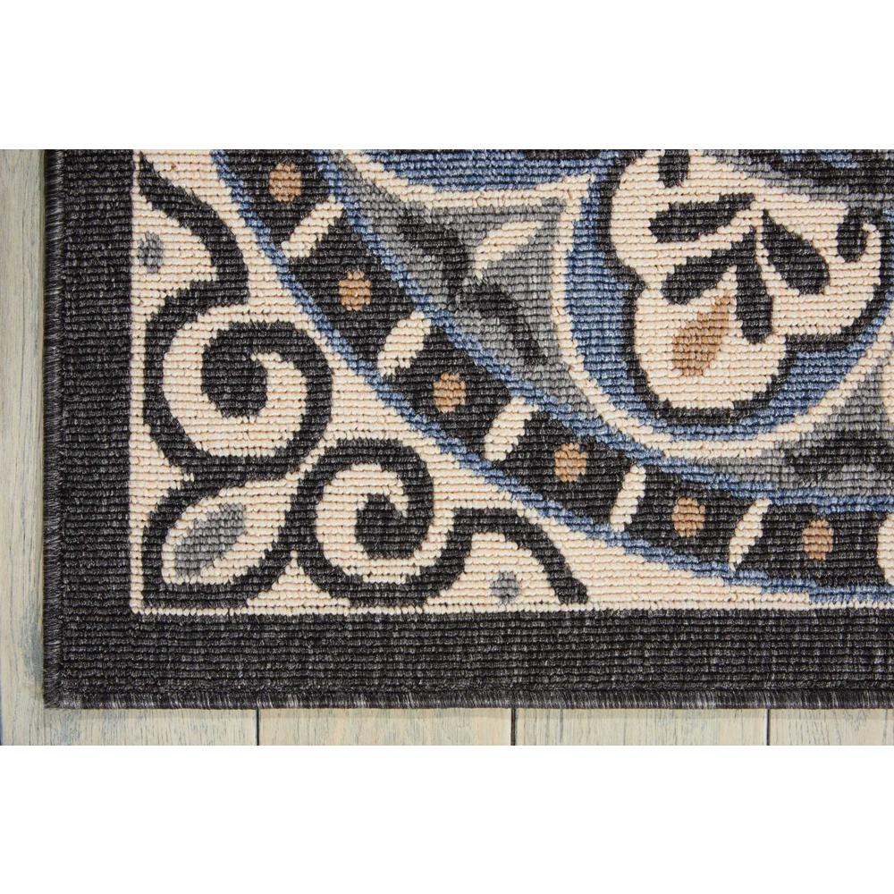 """Caribbean Area Rug, Ivory/Charcoal, 2'6"""" x 4'. Picture 2"""