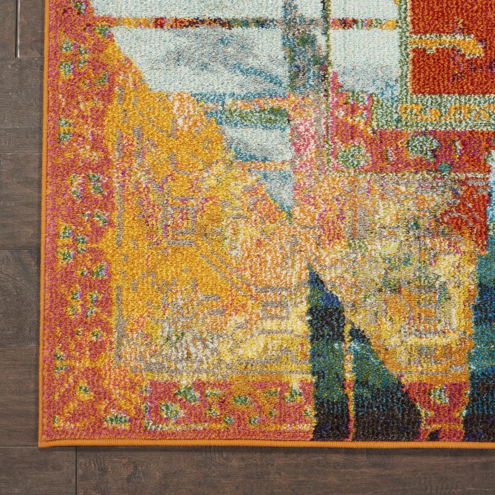 """Celestial Area Rug, Stained Glass, 5'3"""" x 7'3"""". Picture 2"""