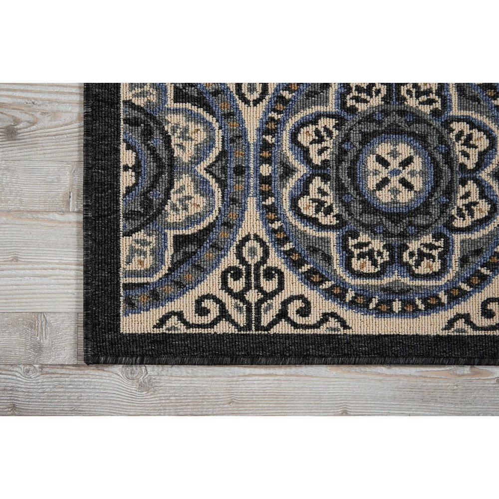 """Caribbean Area Rug, Ivory/Charcoal, 1'9"""" x 2'9"""". Picture 2"""