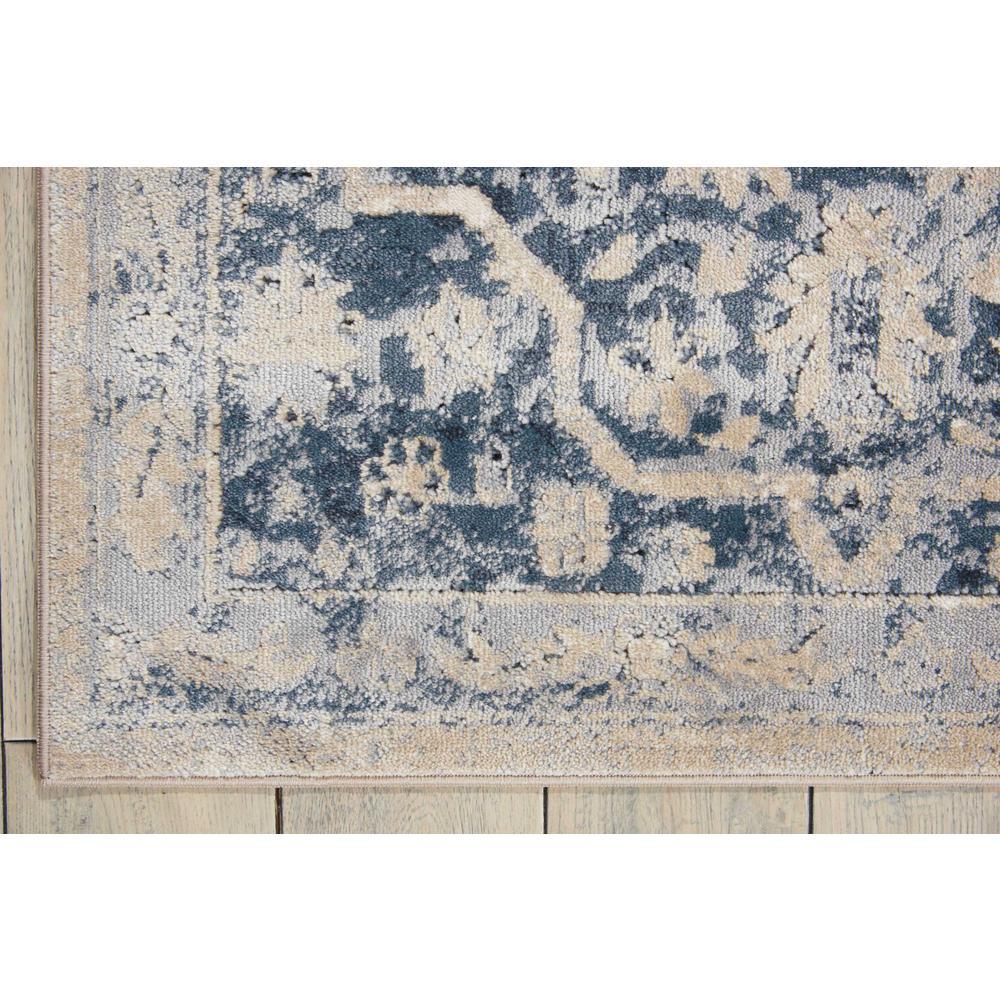 "KI25 Malta Area Rug, Ivory/Blue, 3'11"" x 5'7"". Picture 2"