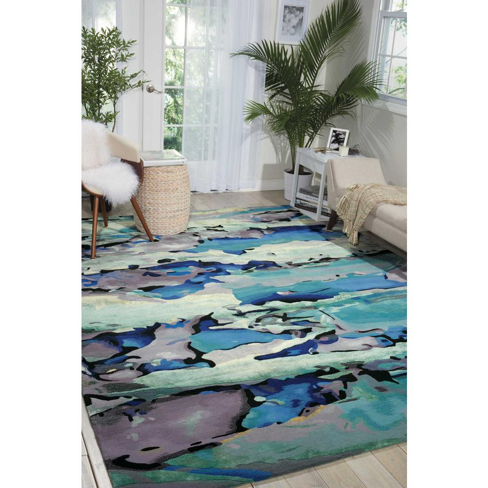 "Prismatic Area Rug, Seaglass, 9'9"" x 13'9"". Picture 4"