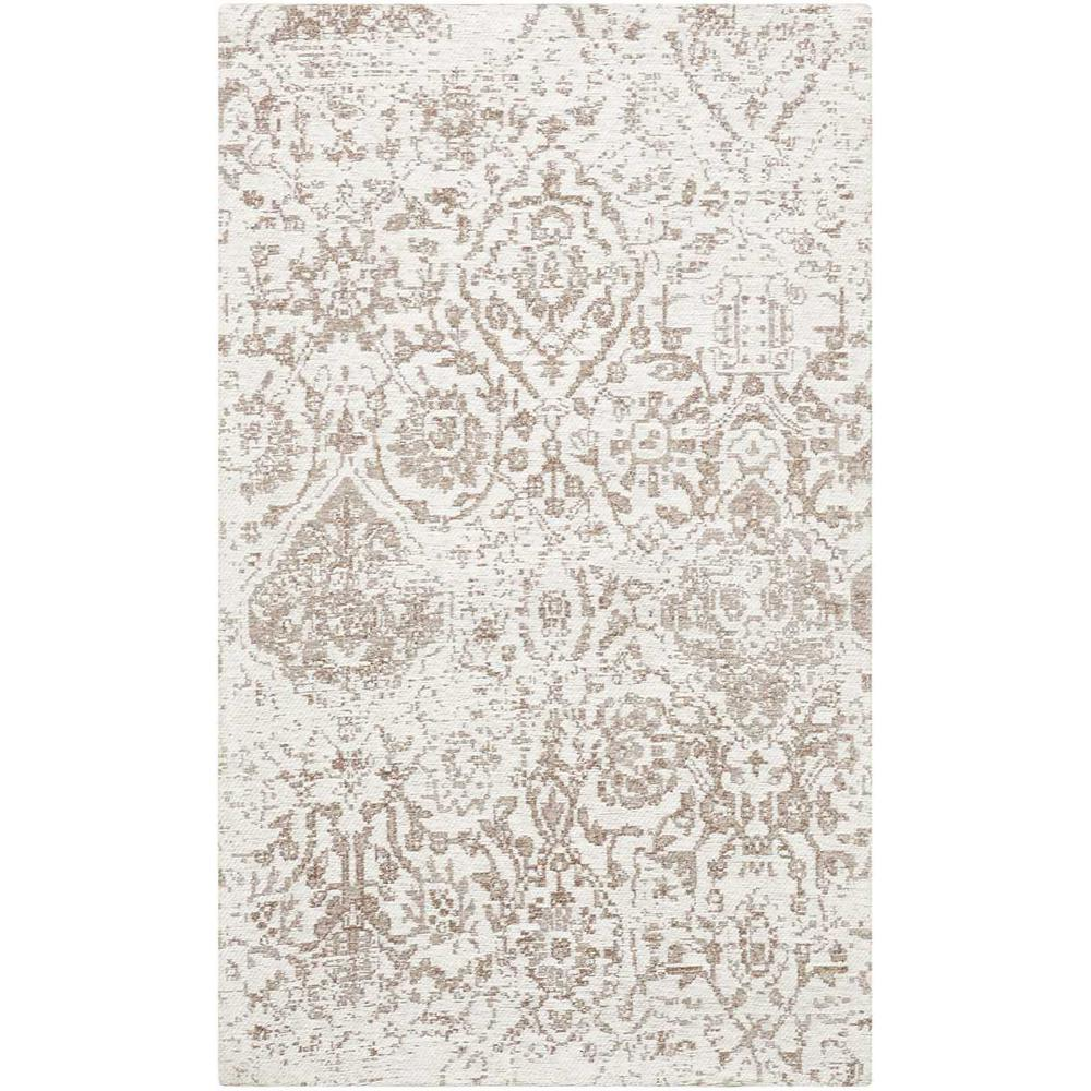 "Damask Area Rug, Ivory, 2'3"" x 3'9"". Picture 1"