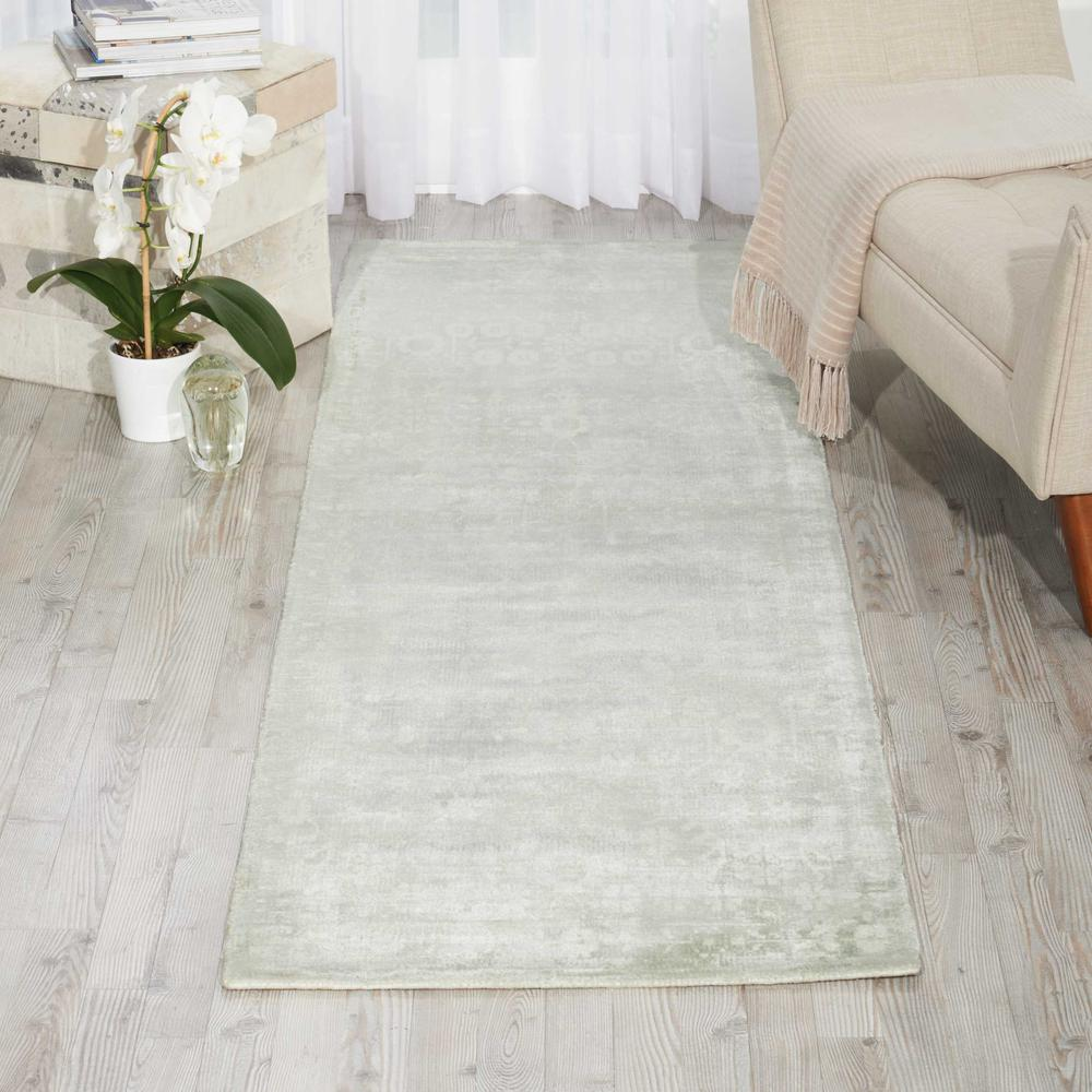 "Desert Skies Area Rug, Silver/Green, 2'3"" x 8'. Picture 4"
