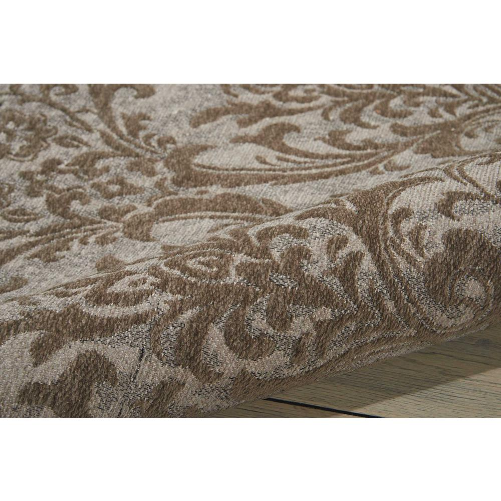 Damask Area Rug, Grey, 8' x 10'. Picture 3