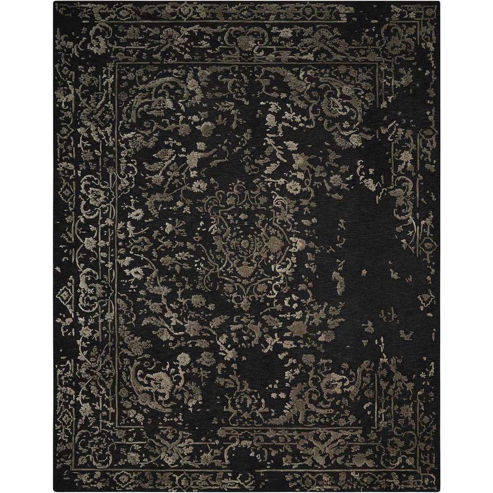 """Opaline Area Rug, Mmidnight/Silver, 3'9"""" x 5'9"""". Picture 1"""