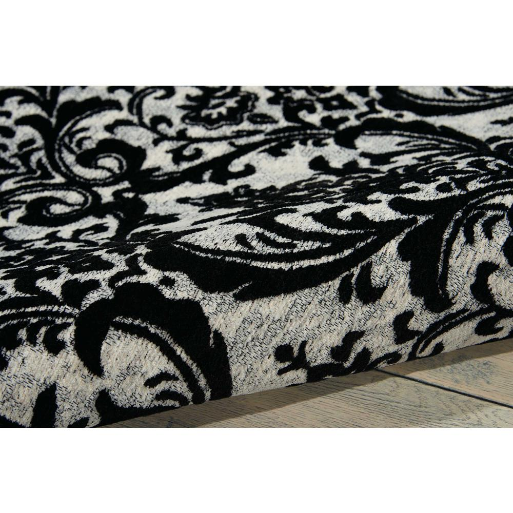 "Damask Area Rug, Black/White, 2'3"" x 3'9"". Picture 3"