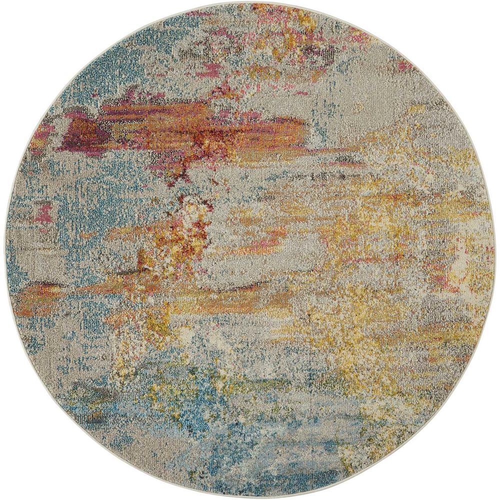 "Celestial Area Rug, Sealife, 5'3"" x ROUND. Picture 1"