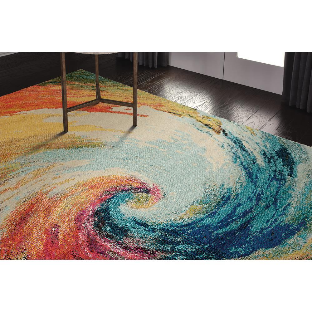 "Celestial Area Rug, Wave, 5'3"" x 7'3"". Picture 13"