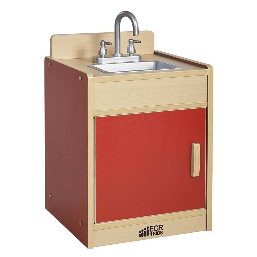 Colorful essentials play sink red for Coloured kitchen sinks