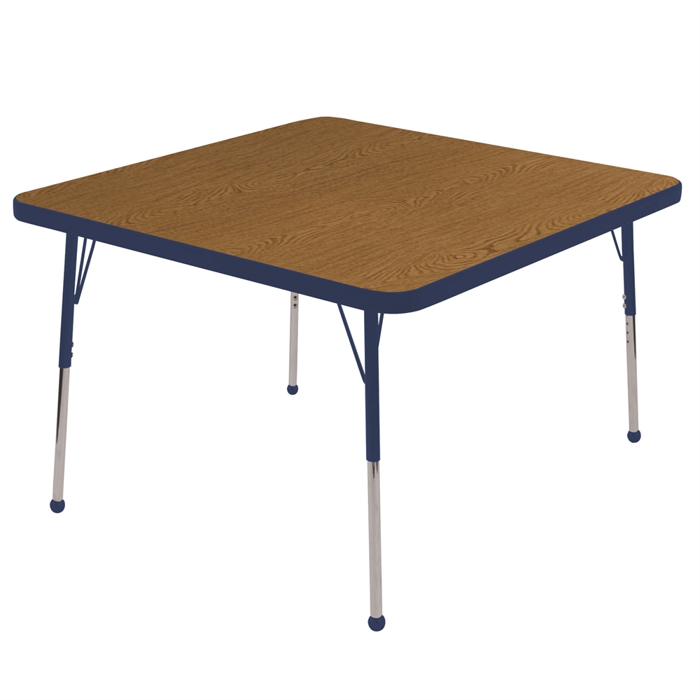 30 Square Table Oak Navy Toddler Ball