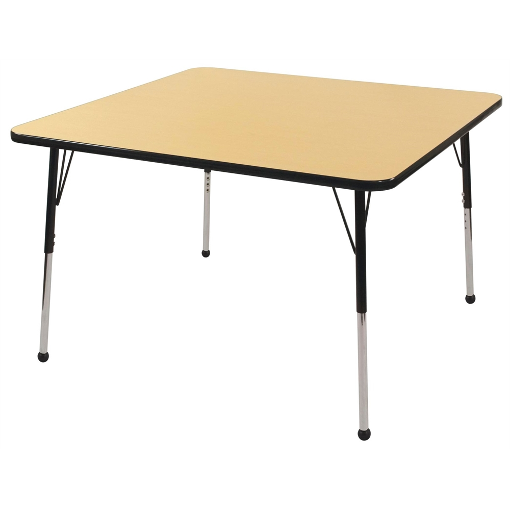 48 Square T Mold Activity Table Maple Black Toddler Ball