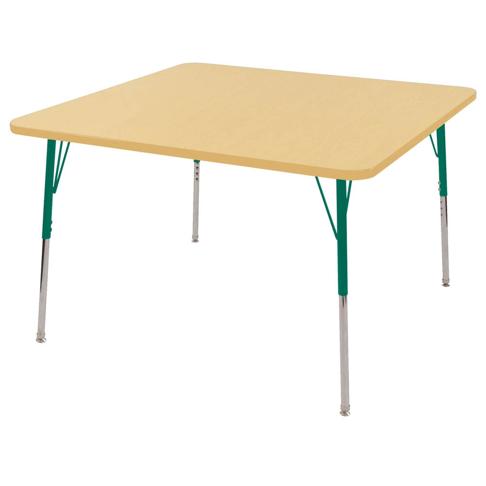 48 Square T Mold Activity Table Maple Maple Green Toddler Swivel