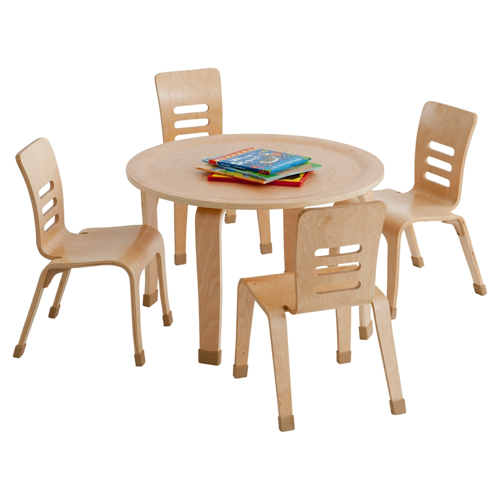 30 Quot Round Bentwood Table With 18 Quot Legs