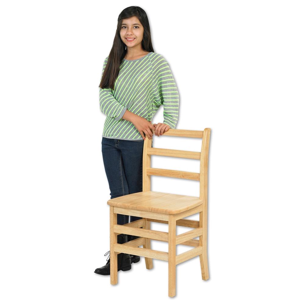 "16"" Three Rung Ladderback Chair - ASM, set of 2"