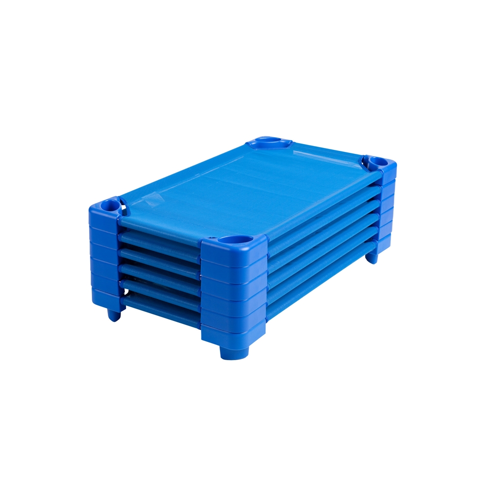 Stackable Kiddie Cot Standard RTA - Blue, set of 6. Picture 4