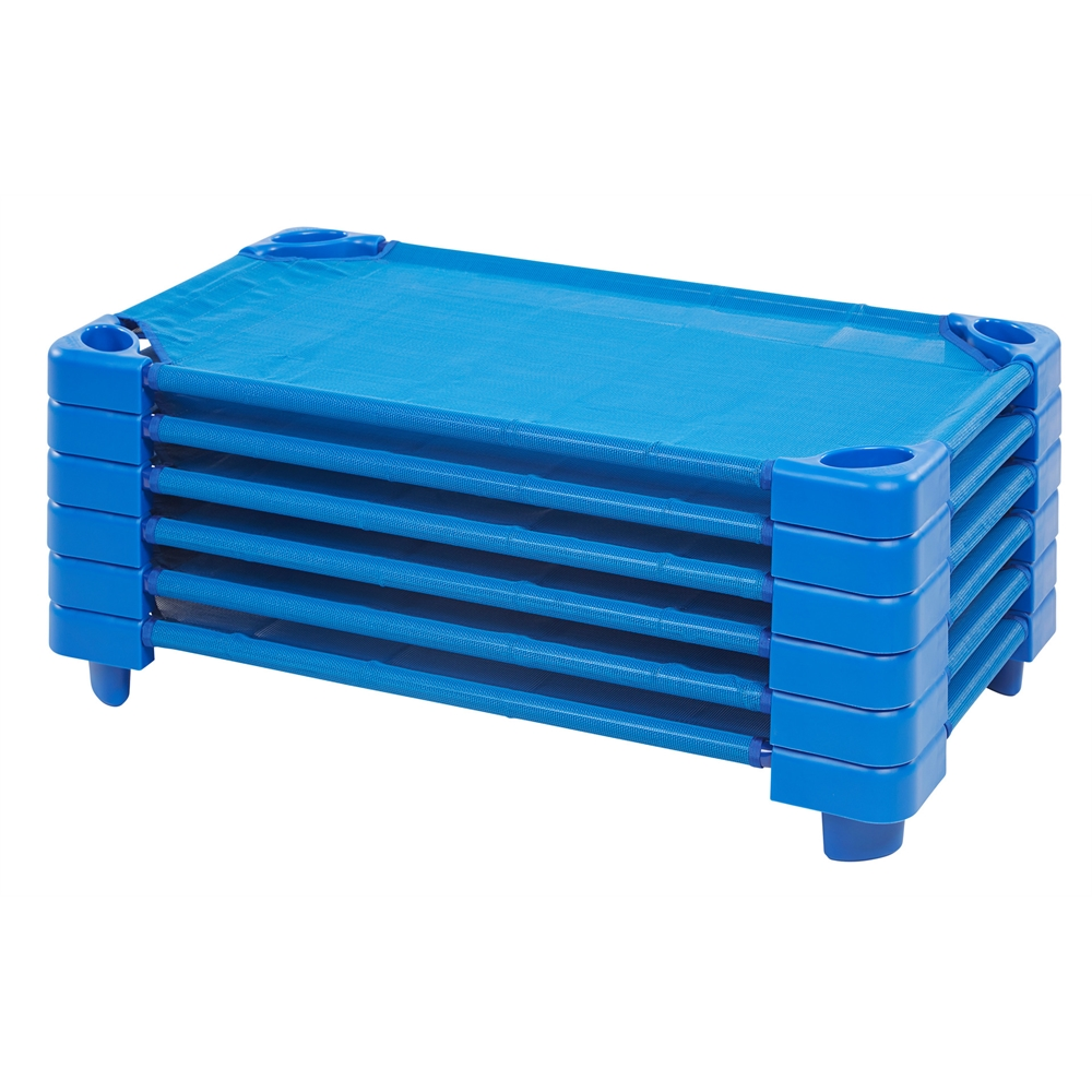 Stackable Kiddie Cot Standard RTA - Blue, set of 6. Picture 1