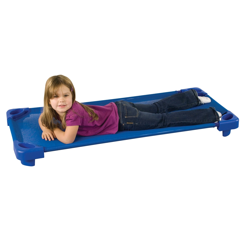 Stackable Kiddie Cot Standard RTA - Blue, set of 6. Picture 2