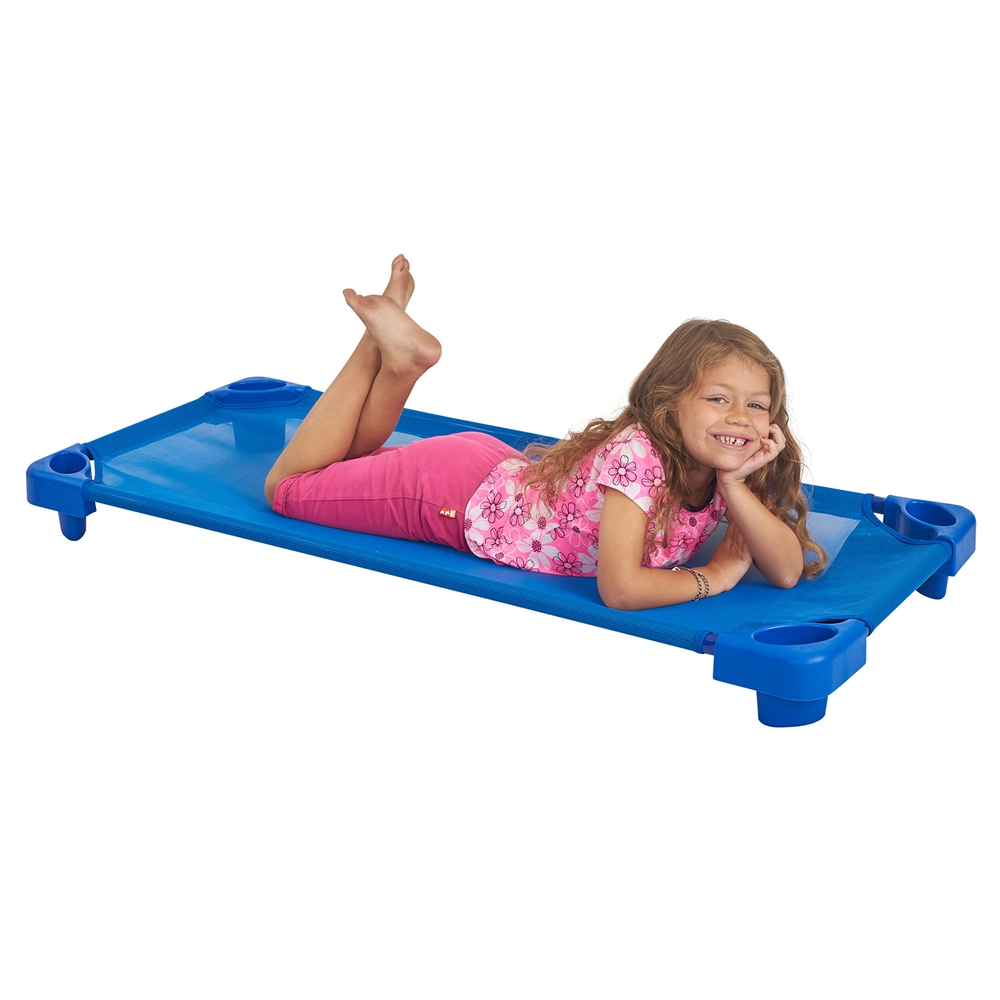 Stackable Kiddie Cot Standard RTA - Blue, set of 6. Picture 3