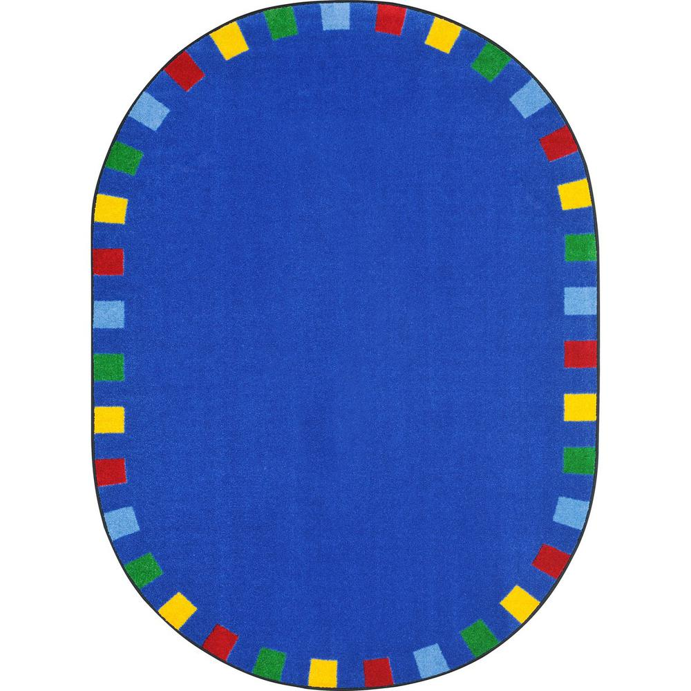 """Joy Carpet On The Border Brights 7'8"""" x 10'9"""" Oval. Picture 1"""