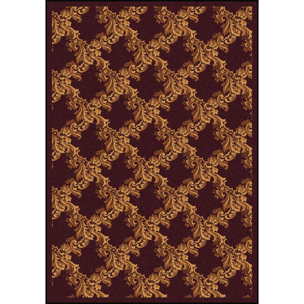 Joy Carpet Corinth Burgundy 7 8 Quot X 10 9 Quot
