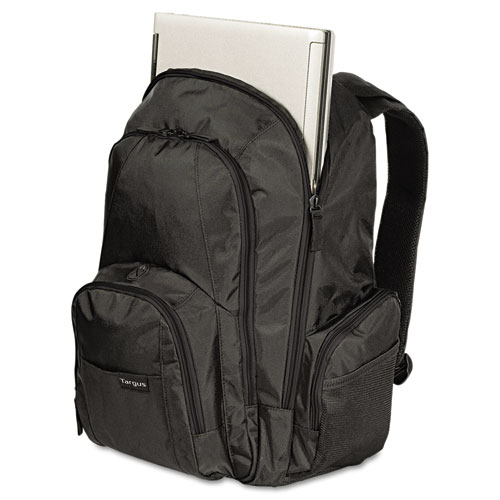 """15.4"""" Groove Laptop Backpack, Nylon, 13 x 7-3/4 x 18, Black. Picture 2"""