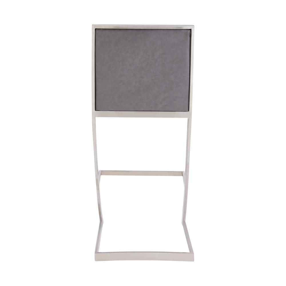 Pinellas Modern Grey Stainless Steel Bar and Counter Stool. Picture 4